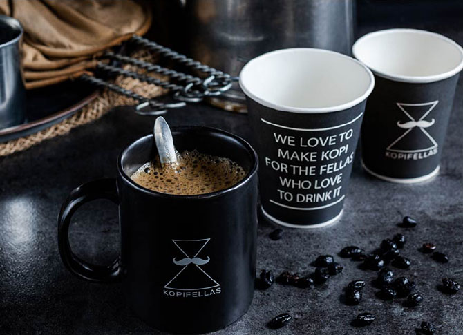 We love to make kopi for the fellas who love to drink it.